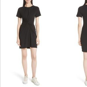 NEW • Theory • Rubri T-Shirt Knotted Mini Dress L